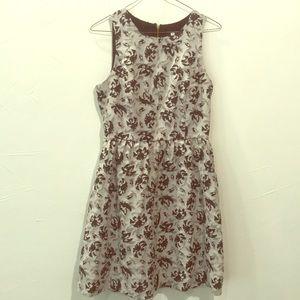 Kensie gray & black flower dress